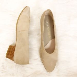 Naturalizer Suede Leather Nude Pointed Toe Pumps